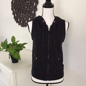 Abercrombie | Black Athletic mesh zip up vest